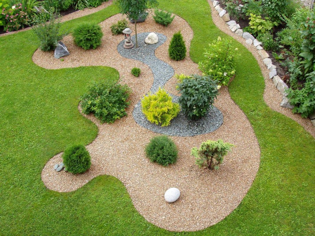Ландшафтный дизайн с гравием