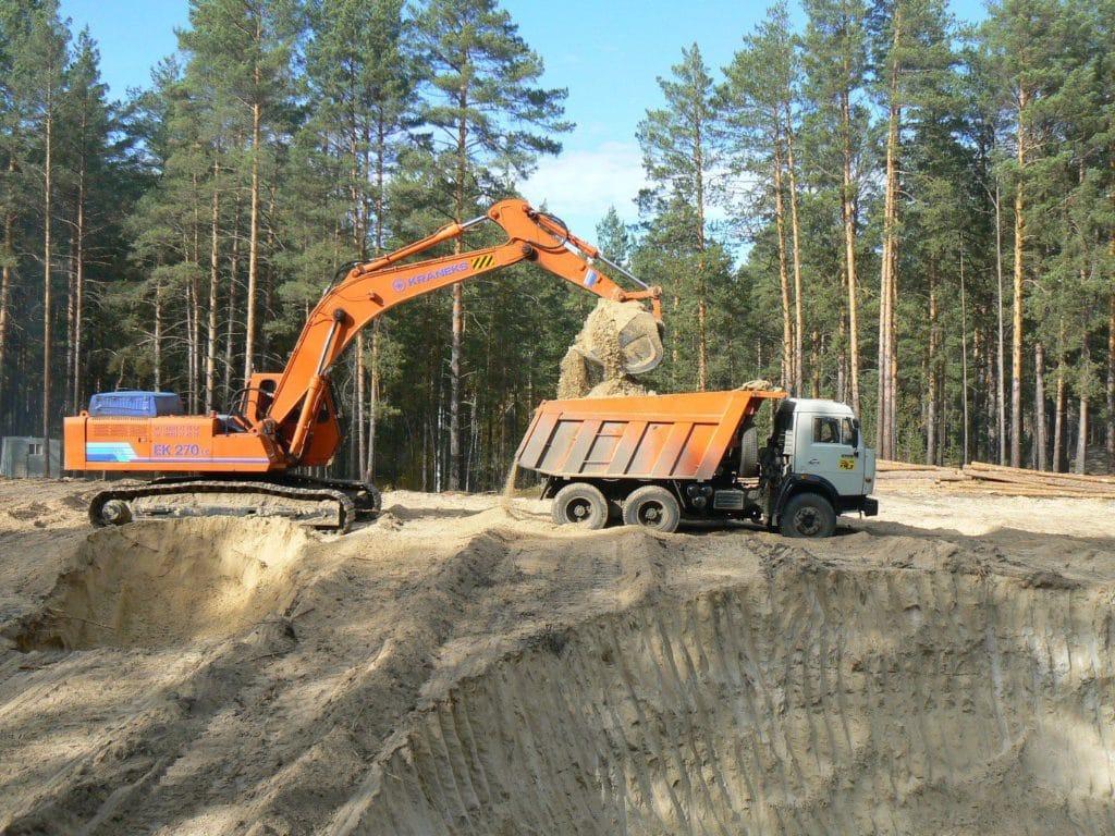 Добыча кварцевого песка в Московской области