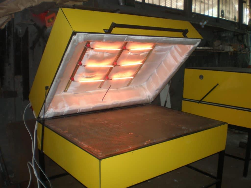 Термообработка камня в обжигательной печи