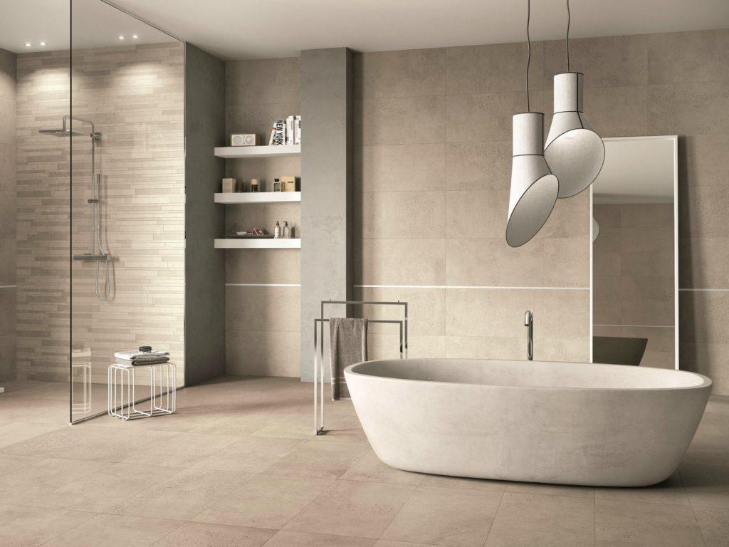 Водостойкий керамогранит в ванной