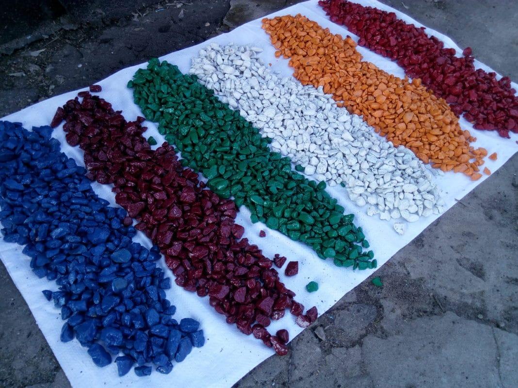 Производство цветного гравия