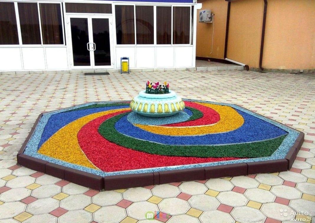 Декорирование цветным гравием