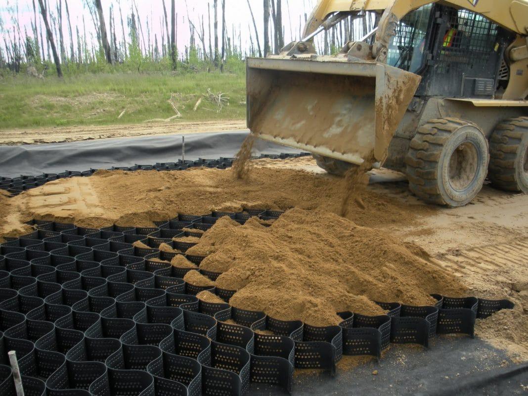 Отсыпка дорог песком средней крупности