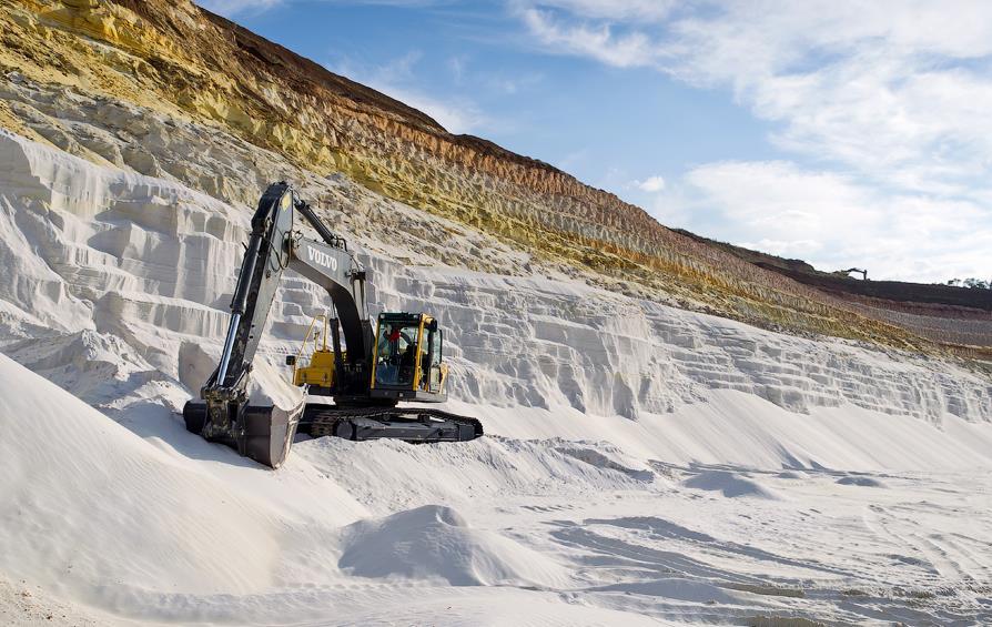Карьер кварцевого песка