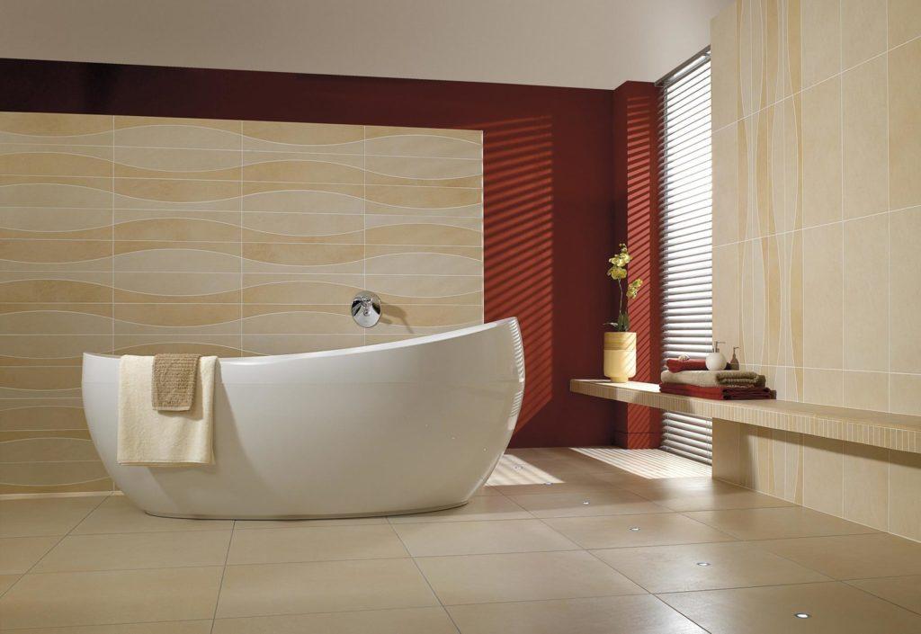 Квариловая ванна в интерьере