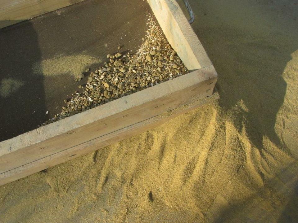 Обработка песка