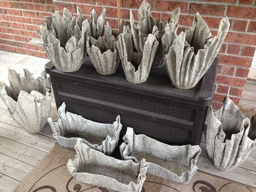Вазоны, выполненные с помощью ткани