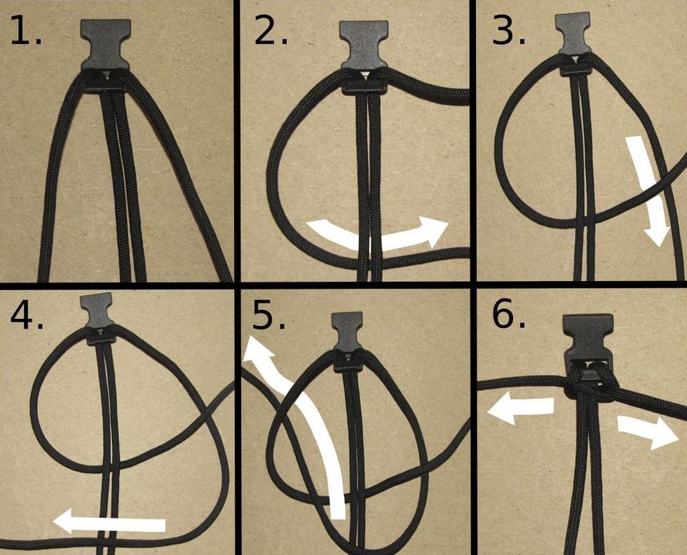 Схема плетения браслета из паракорда