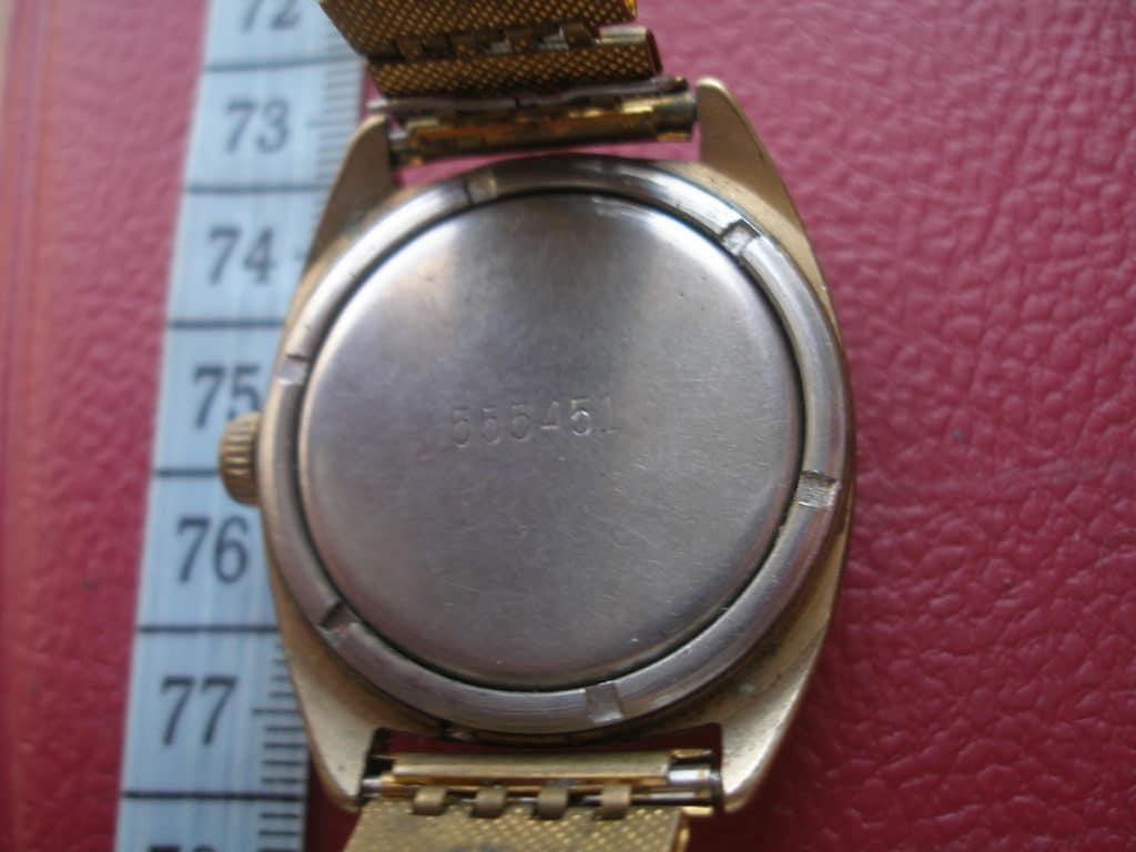 Часы с частичным покрытием позолоты
