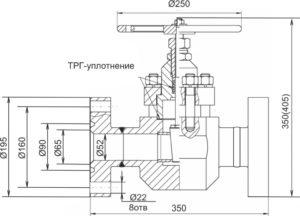 Производство нефтепромыслового и бурового оборудования. Задвижка клиновая